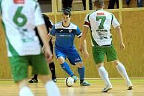 Poslední brněnské prvoligové futsalové derby. Rádio Krokodýl (ve světlém) přivítalo v bohunické hale Helas.