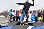 Alexander Choupenitch v zimním olympijském parku v Brně.