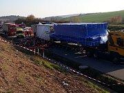 Úterní tragická nehoda na 173. kilometru dálnice D1.