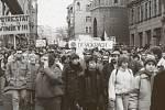 V Brně se první demonstrace uskutečnila o tři dny později než v Praze. Lidé zaplnili celé náměstí Svobody, okolní ulice, ale i přilehlé hospody a restaurace.