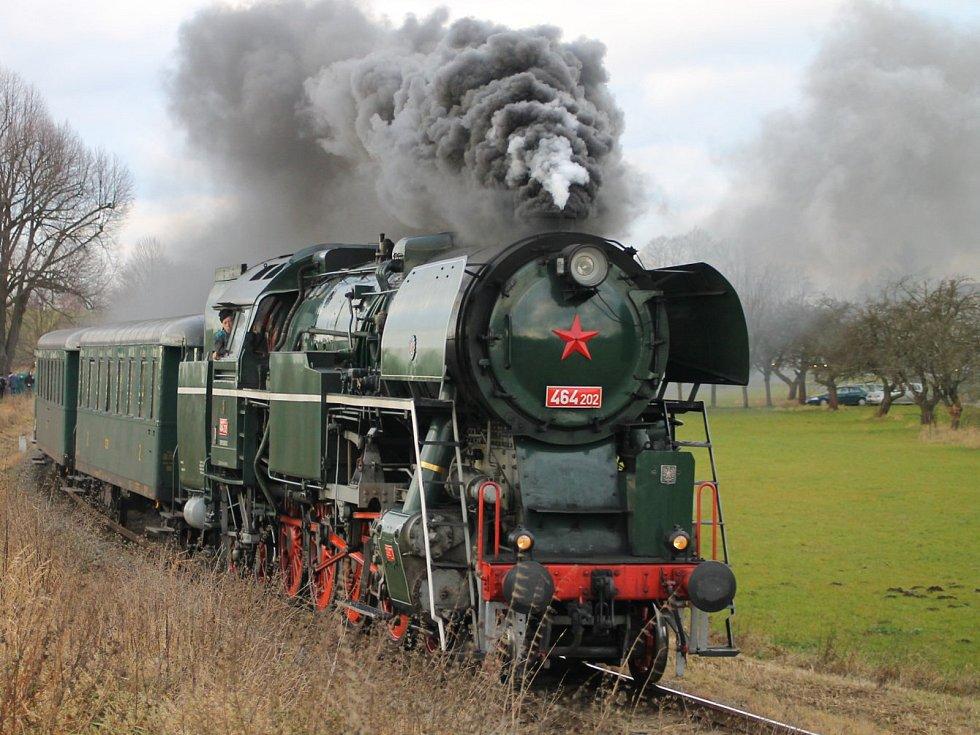 Parní lokomotiva Rosnička. Ilustrační foto.