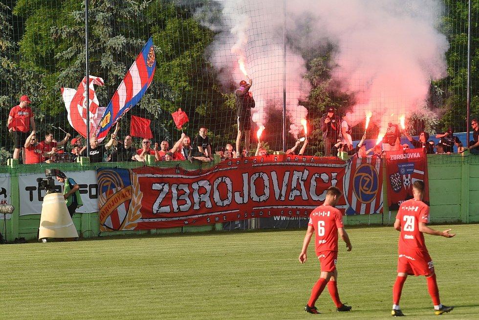 11.6.2020 - 22 kolo F:NL mezi domácí SK Líšeň v bílém proti FC Zbrojovka Brno