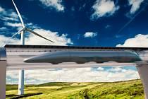 Vizualizace Hyperloopu.