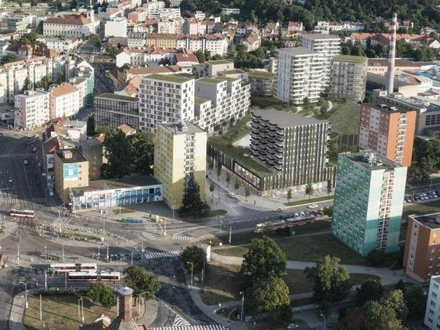 Kanceláře, obchody a byty v pěti budovách vyplní prostor po bývalé oděvní firmě Kras-Haka. Kvůli blízkosti k Mendlovu náměstí nese projekt název Mendel Plaza.