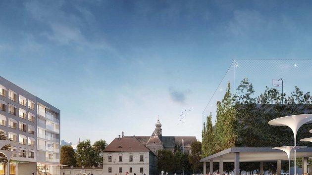 Vítězný návrh podoby Mendlova náměstí představili brněnští radní. Pracovali na ní architekti z Ateliéru RAW Michal Palaščák a Michal Poláš