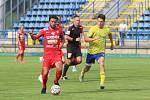 Fotbalisté Brna (v červeném Pavel Zavadil) v posledním přípravném zápase před novou sezonou remizovali se Zlínem 1:1.