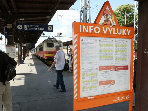 ILUSTRAČNÍ FOTO: Vlakové výluky v Brně.