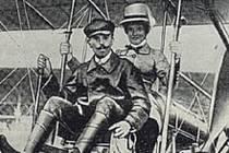 Aviatik Warchalovski, který uskutečnil první vzlet letadla v Brně.