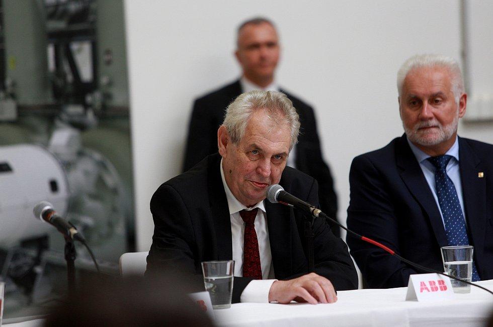 Prezidenta České republiky Miloš Zeman na návštěvě Jihomoravského kraje, 31. května 2017.