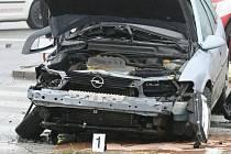 Nehoda dvou aut v brněnských Bohunicích. Ilustrační foto.