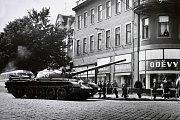 Tanky jezdily i Národní třídou v Hodoníně.