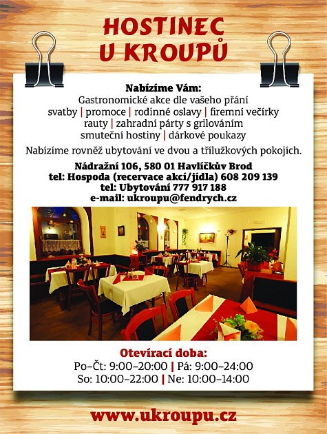 34. Restaurace uKroupů Havlíčkův Brod