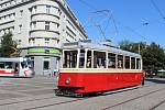 Opravená tramvaj vyjela do ulic.