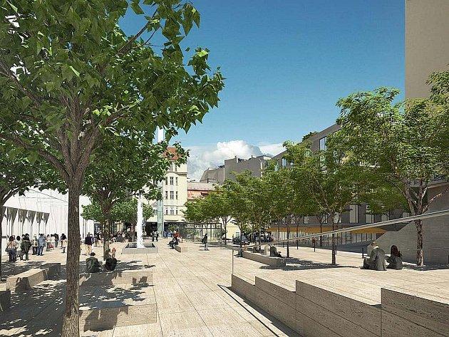Plánovaná podoba Janáčkova kulturního centra na vizualizaci z roku 2009.
