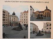 Vizualizace návrhu kašny na Dominikánském náměstí - návrh 14.