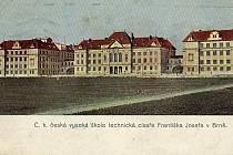 Historická podoba budovy brněnského Vysokého učení technického.