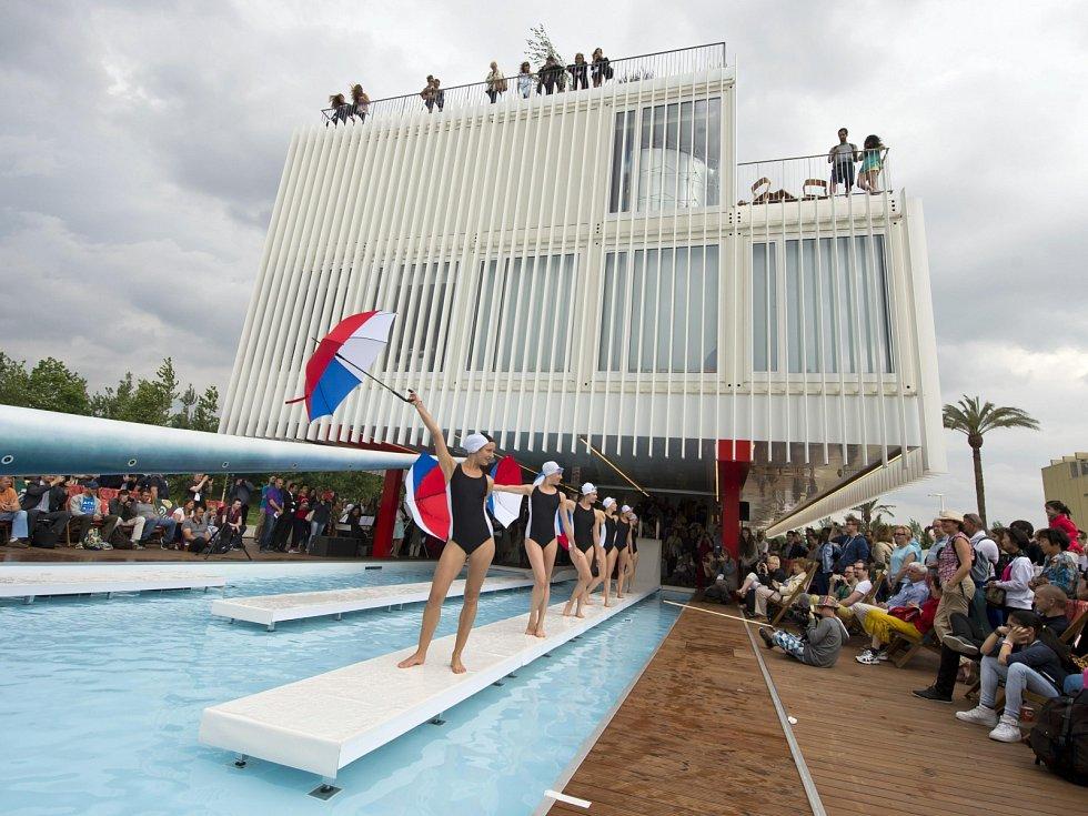 Český pavilon, který navrhli Brňané  Ondřej Chybík a Michal Krištof, na světové výstavě Expo v italském Miláně. Ilustrační foto.
