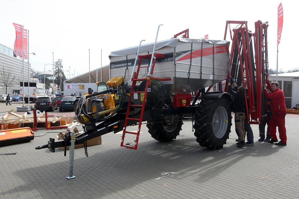 Připravy na veletrh Techagro 2018 v areálu brněnského výstaviště.