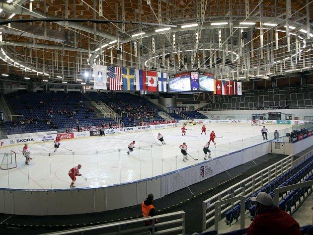 Mistrovství světa hokejistů do 18 let v brněnské Kajot Areně.