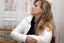 Jitka Kubínová u brněnského soudu.