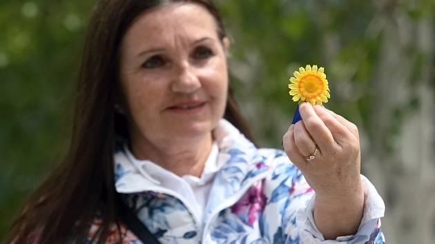 Rekordní počet více jak sedmdesáti tisíc žlutých květin prodávali ve středu brněnští dobrovolníci u příležitosti Českého dne proti rakovině.