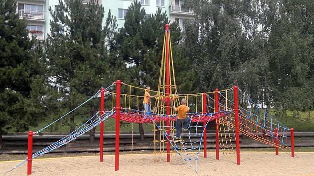 Lanové hřiště v Líšni.
