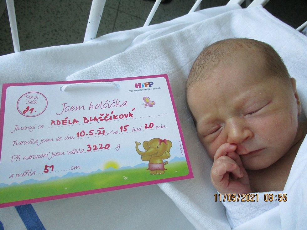 Adéla Blaščíková, 10. května 2021, Lanžhot, Nemocnice Břeclav, 3220 g, 51 cm