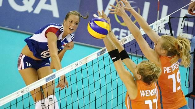 České volejbalistky v závěrečném utkání úvodního turnaje Evropské ligy přetlačily Nizozemsko 3:2.