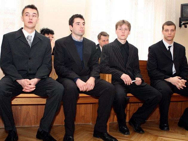 Zleva: Michal Konšel, David Burda, Petr Kopal, Tomáš Lukele.
