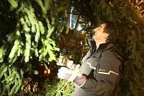 Od úterního večera stojí na náměstí Svobody letošní vánoční strom. Na rozsvícení si ještě Brňané pár dní počkají.