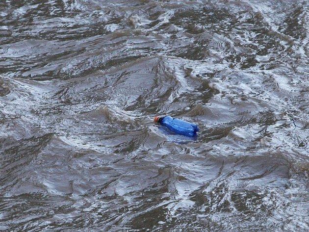 Řeka Svratka ve Veverské Bítýšce.