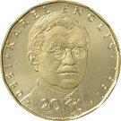 Jedna ze tří nových dvacetikorun vydaných ke stému výročí měnové odluky od Rakousko-Uherska. Nese portrét prvního guvernéra Národní banky Československé Viléma Pospíšila