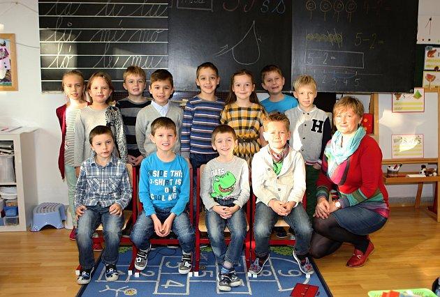 Žáci 1.B ze ZŠ vKanicích střídní paní učitelkou Lenkou Vondruškovou.