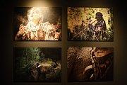 Výstava fotografií skřetího kmene na Špilberku.