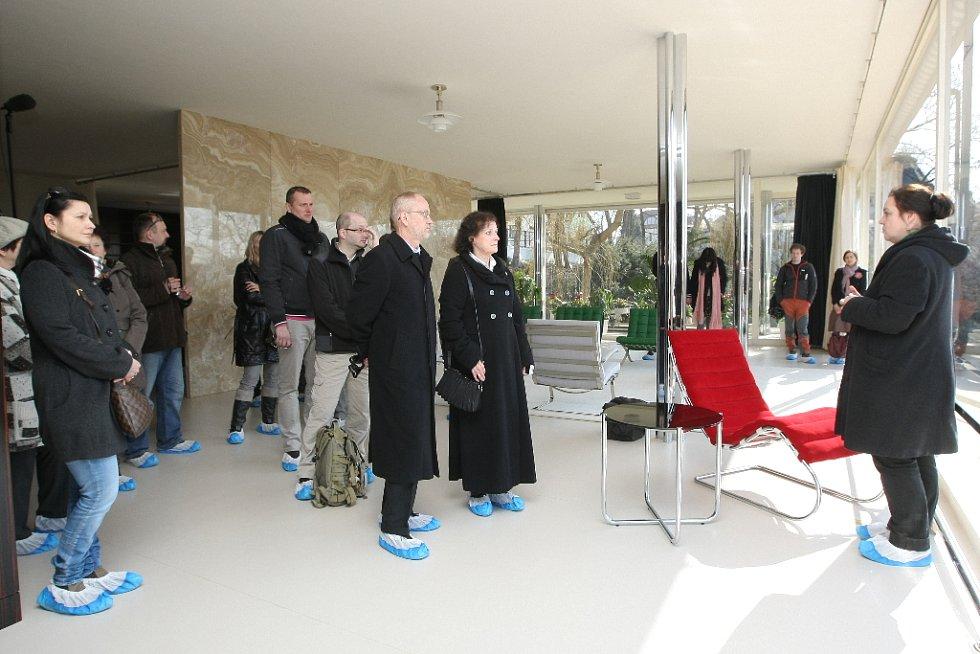 Vila Tugendhat se v úterý poprvé po rekonstrukci otevřela návštěvníkům.