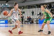 Basketbalový duel Nantes proti Královu Poli.