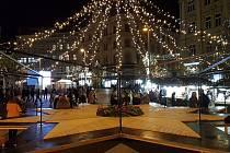 Brno 3.12.2019 - vánoční trhy na brněnském náměstí Svobody