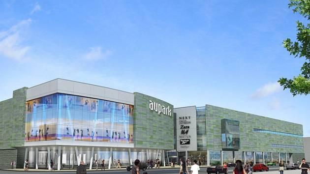 Vizualizace plánovaného projektu Aupark Brno