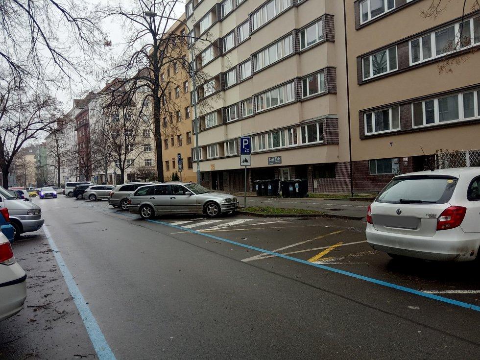 Ulice Botanická, Střed.