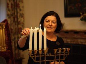 Chanukový svícen opět září ve vile Stiassni. Po 80 letech