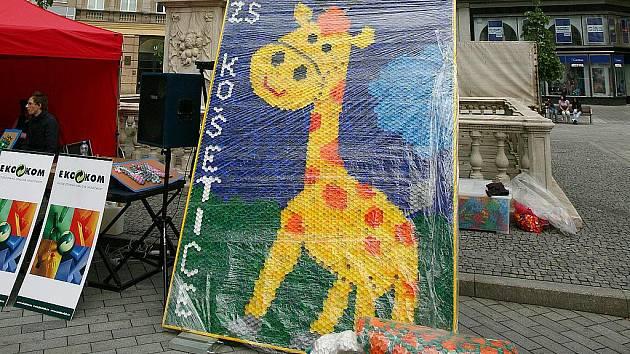 Ekologická soutěž žáků brněnských škol na náměstí Svobody.