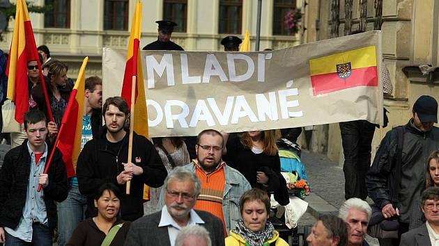 Výroční pochod Moravanů v Brně.