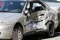 Srážka osobního auta a tramvaje zkomplikovala v pondělí po jedenácté hodině dopravu v Králově Poli na křižovatce ulic Husitská a Palackého třída.