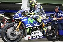 Motocyklový závodník Valentino Rossi.