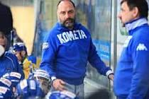 Z rozhodujícího hokejového zápasu mezi Brnem a Ústím.
