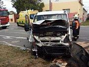 Při vážné nehodě ve Vranovicích zemřel na místě řidič, jeho spolujezdkyni transportoval vrtulník do nemocnice.