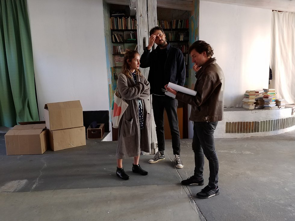 Natáčení filmu Marťanské lodě v Brně.