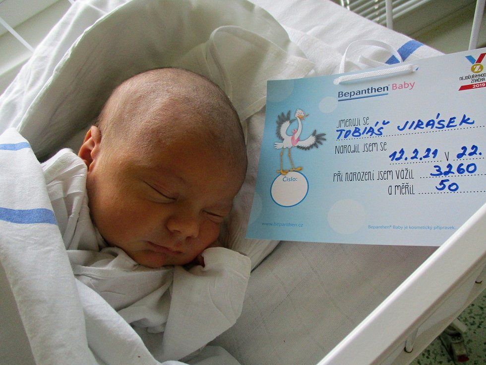 Tobiáš Jirásek, 12. 2. 2020, Hodonín, Nemocnice Břeclav, 3260 g, 50 cm
