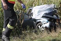 Tragická dopravní nehoda u Malešovic. Řidička při ní zemřela.