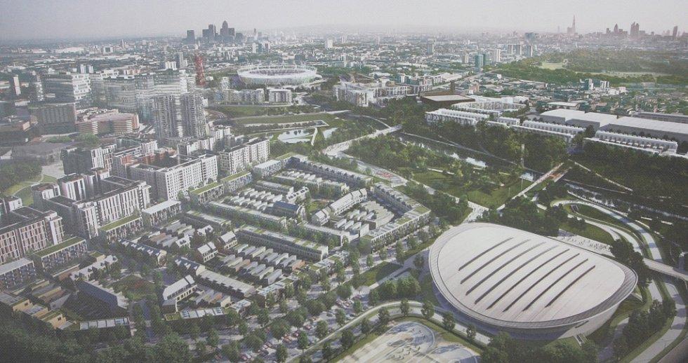 Model londýnského Olympijského parku.